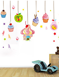 Wall Stickers Wall Decals Style Cartoon Children's Ice Cream PVC Wall Stickers