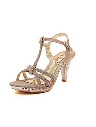 Women's Shoes Stiletto Heel Heels/Open Toe Sandals Casual Silver/Gold