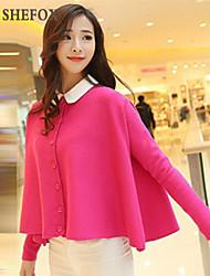 Women's Casual Micro-elastic Medium Long Sleeve Cardigan (Knitwear) SF7B81