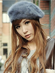 Women Rabbit Fur Fashion Beret