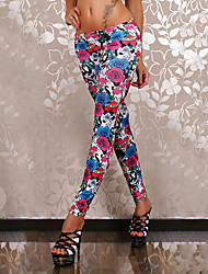 Women's Sexy Casual Tattoo Painting Print Skinny Pants