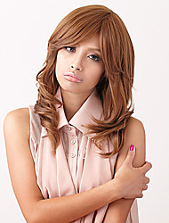 Temperament Human Hair Curly Virgin Remy Wigs Mono Top Medium Length Hair Wig