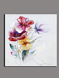 Floral/Botanical Oil Painting Hand-Painted Canvas Wall Art Other Artists Printed Plus Handpainted P651-2