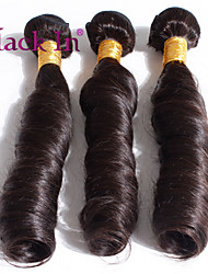 "3 Pcs Lot 12""-30"" Brazilian Super Body Virgin Hair Wefts Dark Brown Human Hair Weaves Tangle Free"