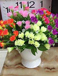 1 paquet de 6 fourche 18 fleurs fleurs en tissu oeillet (x2)