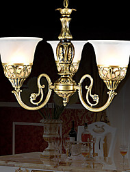 Bronze Chandeliers Moire-Glass European Classic 220V