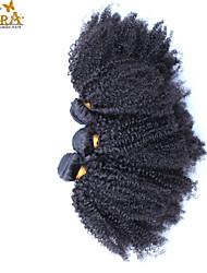 """3pcs / lot 10 """"-30"""" cara mongolo colore di capelli vergine nera afro riccio crespo dei capelli umani naturali di trama non trattato"""