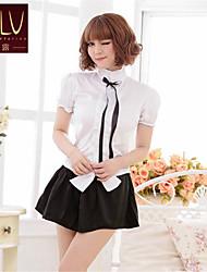 SKLV Women's Cotton Blends School Uniforms Ultra Sexy/Suits Nightwear/Lingerie