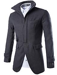 JACK-BOY Men's Stand Coats & Jackets , Organic Cotton Long Sleeve Casual