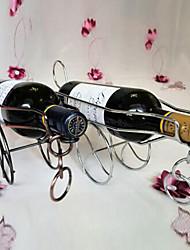 Metal Cannon Shaped Wine Bottle Holder Rack Kitchen Bar Storage Table Stand (Random Color)