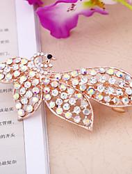 Zhi Bi Fashion Rose Gold Plated Crystal Hair chips 006