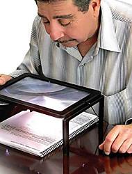 página completa amplio escritorio gigante de aumento lupa de vidrio para la lectura