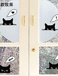 parede adesivos de parede adesivos de parede, desenhos animados pvc gato preto adesivos