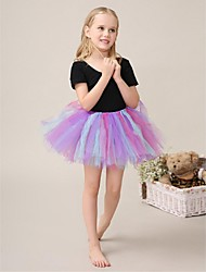 Flower Girl Dress Short/Mini Cotton/Tulle Ball Gown Sleeveless Dress