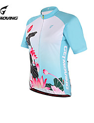 Getmoving Women's Short Sleeve Spring/Summer/Autumn Cycling Tops/JerseysBreathable/Ultraviolet Resistant/Anatomic