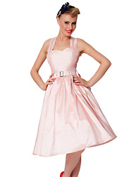 Cocktail Party Dress - Blushing Pink Plus Sizes A-line Sweetheart Knee-length Taffeta
