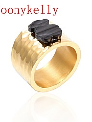 Toonykelly® Fashionable Gold Plated Teddy Bear Unadjustable Ring(1PC)