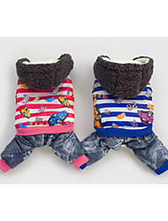 Hunde Kapuzenshirts / Hosen Blau / Rose Winter Jeans