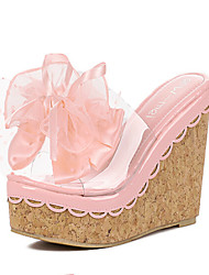 Women's Shoes  Wedge Heel Wedges Slippers Casual Pink/White/Gray