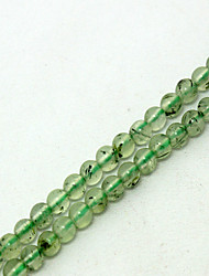 Beadia 39Cm/Str (Approx 108PCS) Natural Prehnite Beads 4mm Round Genuine Green Sonte Loose Beads DIY Accessories