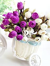 alta qualidade da flor artificial cor brilhante flor de seda rosebud para o casamento e decorativo
