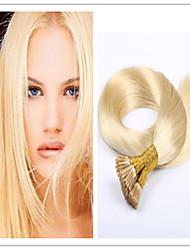 """extension de cheveux de kératine humaine vierge brésilienne de cheveux pré-collé i Tip cheveux 18 """"-28"""" 1g / s 100g / pc 1pc / lot en"""