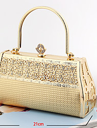 Women Metal Baguette Evening Bag