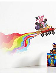 iinside fuori film decorazione felice bambini adesivo parete camera da letto