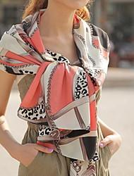 Women Leopard Print Chiffon Scarf Shawls