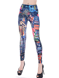 Women's Sexy Casual Print Tattoo Painting Skinny Pants