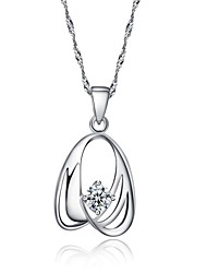 Korean Fine Jewelry Body Chain Cute/Party/Work/Casual Sterling Silver Pendant Necklace Cz Choker Necklace