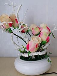 Cherish augmenté ® classiques conduit décoration de la maison de lumière lampe de bureau filtre à air fleur tulipe salle de mariage