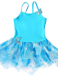 BHL Children's Ballet Dresses Blue Tutu Leotard Dress For Toddler Girls