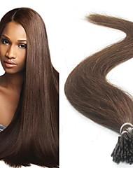 """100pcs 18 """"spitze ich Haarverlängerungen des brasilianischen reinen Menschenhaarverlängerungen"""