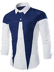 Chemises informelles ( Coton mélangé ) Bodycon/Informel/Travail Col chemise à Manches longues