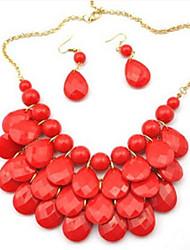 Rayuan Women's High Quality Fashion Beautiful Alloy Nceklace and Earrings set