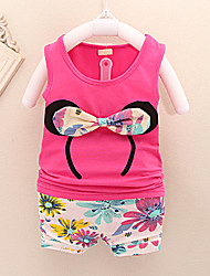 Girl's Cotton Blend Clothing Set , Summer Sleeveless, Girls cute Gifts,100% brand new and high quality