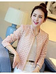 Women's Pink/White Jackets , Cute Long Sleeve