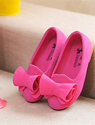 Girls' Shoes Party & Evening/Dress/Casual Ballerina/Round Toe/Closed Toe Fabric Flats Yellow/Green/Red