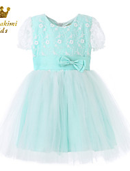 Girl Blue Tulle Lace Princess Party Ceremony Dresses