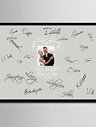 E-HOME® Personalized Signature Canvas Frame-New Photo (Includes Frame)