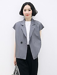 Women's Vintage/Casual/Work Sleeveless Cotton Medium
