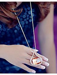 Collar Colgante ( Piedra Preciosa y Cristal Vintage/Casual