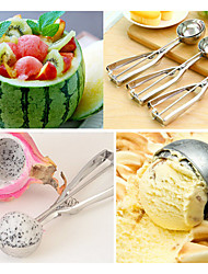 Stainless Steel Scoop Spoon For Ice Cream Fruit Food Mash Kitchen Ball (21*5*5cm)