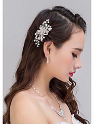 2015The new high-end gold leaf pearl comb bride wedding dress accessories bridal jewelryTM-Headwear0036