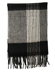 HengYuanXiang Men Long Wool Scarf Thick Shawl Striped Fringed Scarf, Vintage/Casual/Plain/Business Type/Elastic/Fluffy