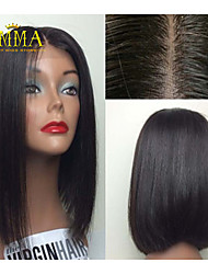 16inch 100% Remy Human Hair Straight Wave Full Lace Wigs /Lace Front Wigs Silk Top