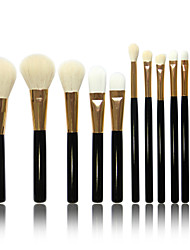 12pcs/set Pure Wool Makeup Brushes Powder Foundation Eyeshadow Eyeliner Lip Brush Set