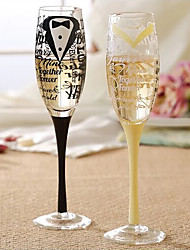 Hand Drawn Champagne Glass (Set of 2)