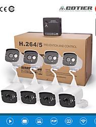 kits cotier®8ch NVR HD Mini NVR 720p / 960p / 1080p / plug and play / vision de nuit / ONVIF / caméra IP n8b7-mini
